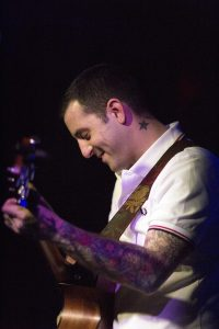 Bayside - lead singer and songwriter, Anthony Raneri playing guitar.