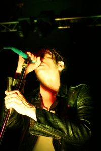 Lead Singer and Songwriter of the band Fun, Nate Ruess on stage