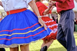 Square Dancing couples in vintage costumes in Arizona